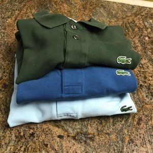 Lacoste bundle!!!! 3 shirts all together!